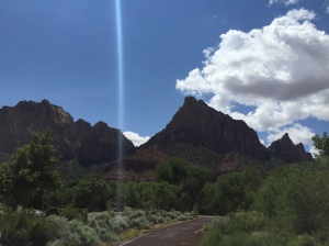 Heading into Zion National Park from Hurricane