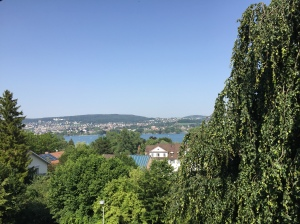 The view from our apartment in Zurich, Switzerland.