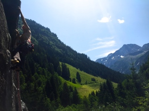 Layin' back in the Austrian Alps.....livin' the dream - Schwänzeltanz 6c