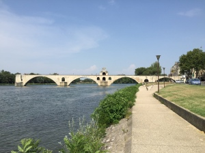 St Bénézet's Bridge on the Rhone River