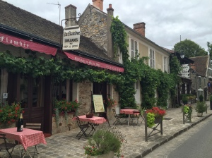 The main street of Barbizon, France