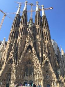 Sangrada Familia - Antonio Gaudi's Spanish Gothic architectural masterpiece.