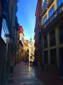 """The narrow streets of Oviedo """"Old Town""""."""