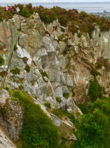 The sharp unforgiving rock of Dalkey Quarry.