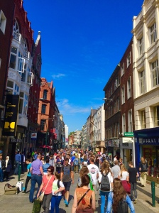 This is Dublin's shopping district........on a Monday during summer.