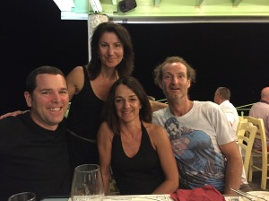 Dave, Kris, Karine and I at the Aegean Restaurant. An unexpected surprise.