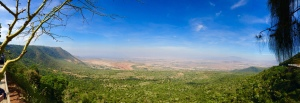 The Great Rift Valley in Kenya.