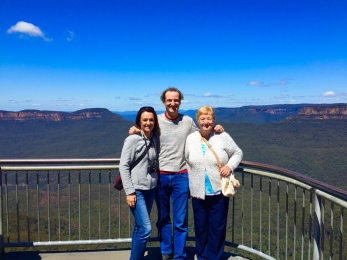 Miss K, me and Mum......Scenic Lookout Katoomba NSW.